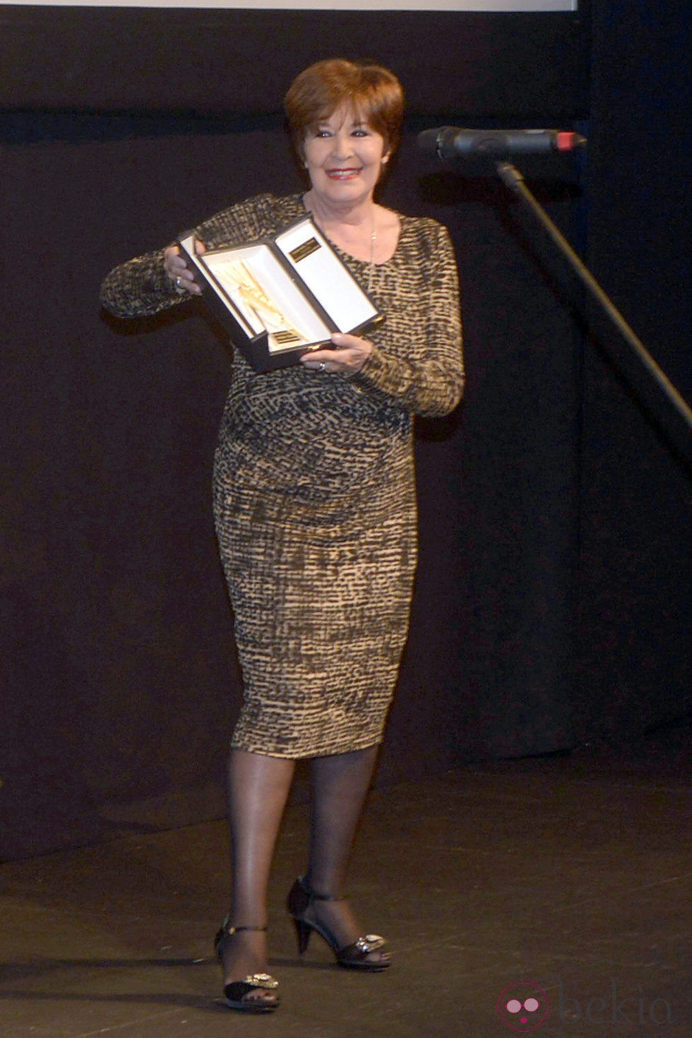 Concha Velasco con la Espiga de Oro de Honor de la Seminci 2013