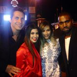 Joe Francis, Kourtney Kardashian, Kim Kardashian y Kanye West