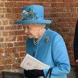 La Reina Isabel II de Inglaterra en el bautizo del Príncipe Jorge de Cambridge