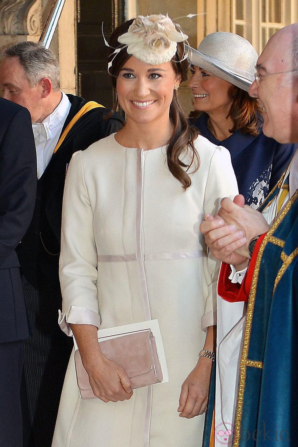 Pippa Middleton en el bautizo del Príncipe Jorge de Cambridge