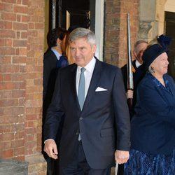 Michael Middleton en el bautizo del Príncipe Jorge de Cambridge