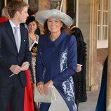 Carole Middleton en el bautizo del Príncipe Jorge de Cambridge