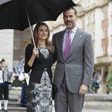 Los Príncipes Felipe y Letizia llegan a Oviedo para los Premios Príncipe de Asturias 2013