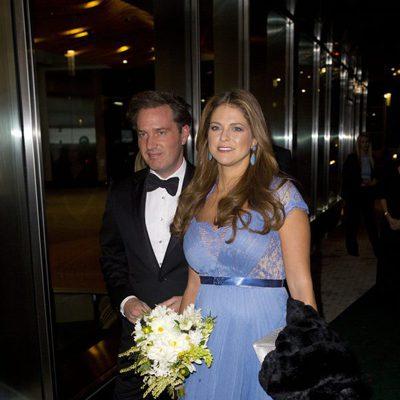 Magdalena de Suecia y Chris O'Neill en la gala de la Cámara de Comercio Sueco-Americana en Nueva York