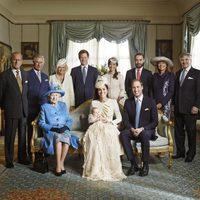 Fotografía oficial del bautizo del Príncipe Jorge de Cambridge