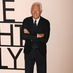 Giorgio Armani en su fiesta 'One Night Only' en Nueva York