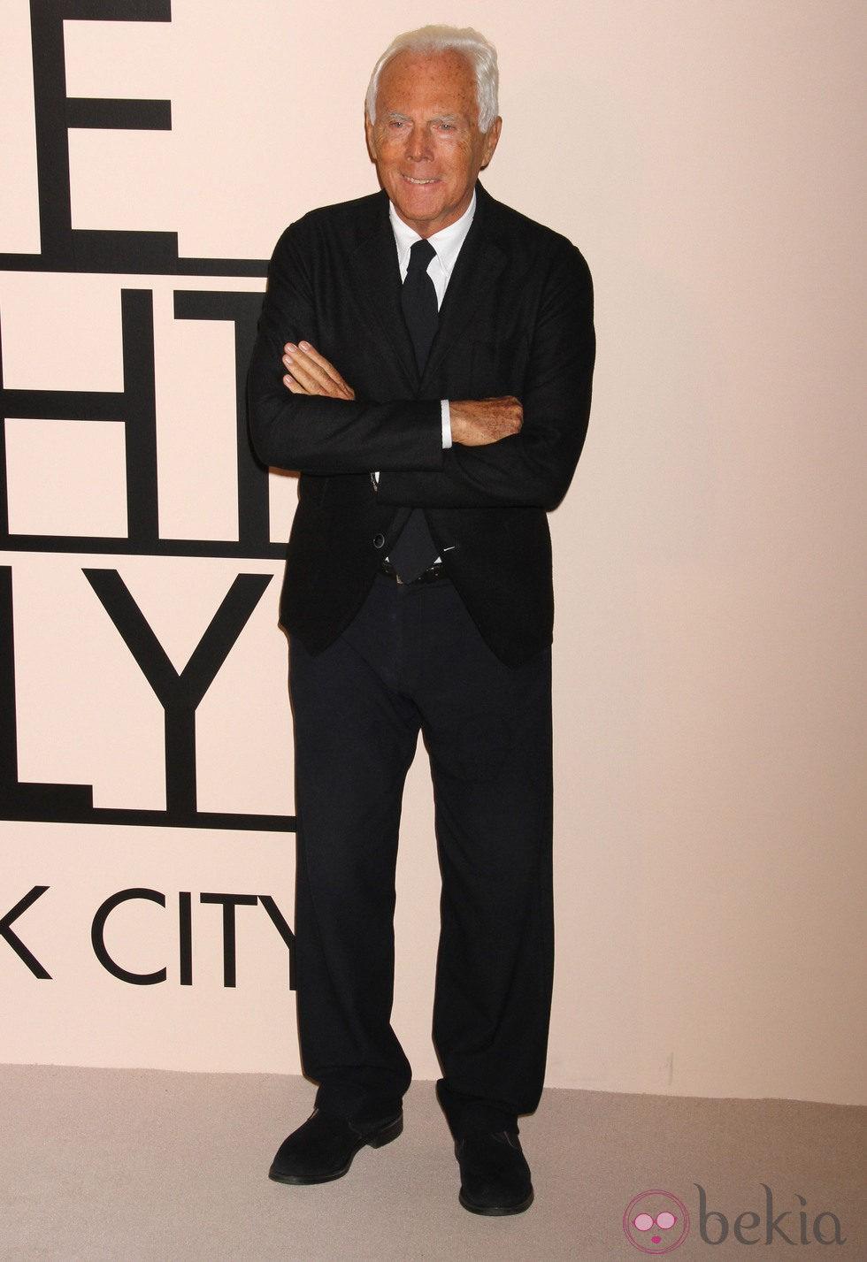 Giorgio Armani en su fiesta 'One Night Only' en Nueva York