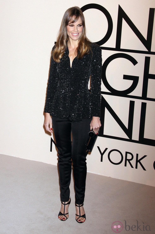 Hilary Swank en la fiesta de Giorgio Armani 'One Night Only' en Nueva York