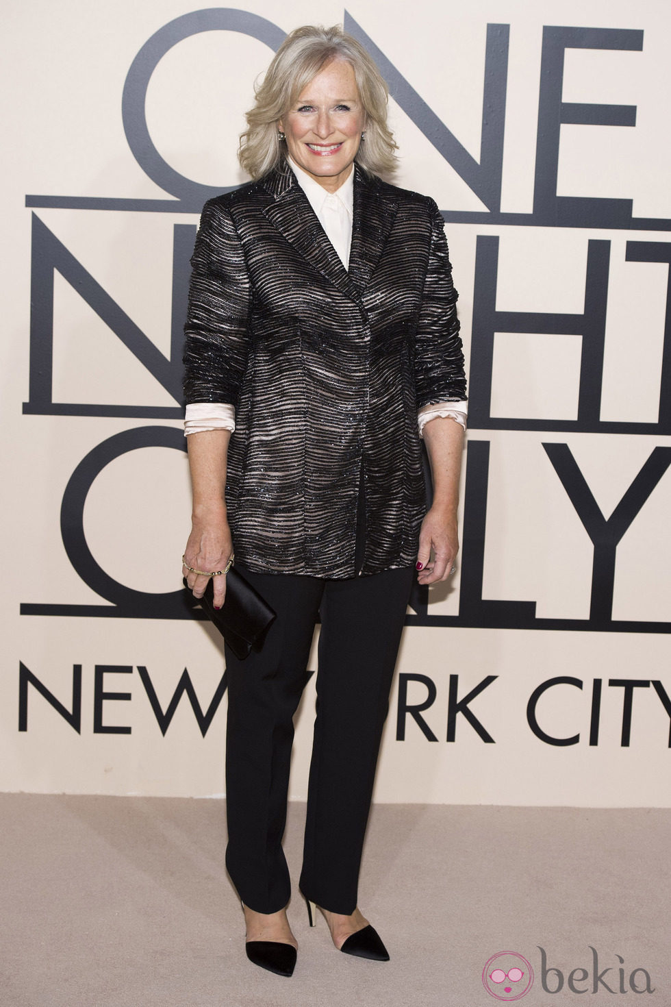 Glenn Close en la fiesta de Giorgio Armani 'One Night Only' en Nueva York