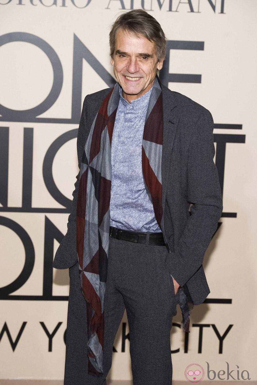 Jeremy Irons en la fiesta de Giorgio Armani 'One Night Only' en Nueva York