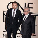 Leonardo DiCaprio y Martin Scorsese en la fiesta de Giorgio Armani 'One NIght Only' en Nueva York