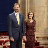 Los Príncipes Felipe y Letizia reciben a los galardonados en los Premios Príncipe de Asturias 2013