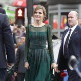 La Princesa Letizia llega a los Premios Príncipe de Asturias 2013