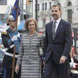 La Reina Sofía y el Príncipe Felipe llegan a los Premios Príncipe de Asturias 2013