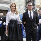Sandra Ibarra y Juan Ramón Lucas en los Premios Príncipe de Asturias 2013