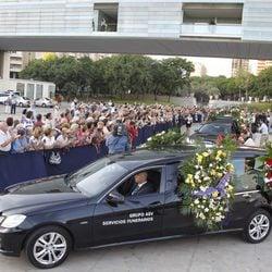 Llegada de los restos de Manolo Escobar a su funeral