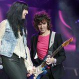 Susana Alva y Rubén Pozo durante el concierto 'Por Ellas' de Cadena 100