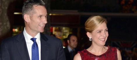 La Infanta Cristina e Iñaki Urdangarín durante la boda de Pablo Lara y Anna Brufau en Barcelona