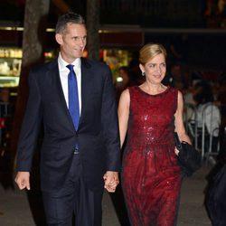 La Infanta Cristina e Iñaki Urdangarín durante la boda de Pablo Lara y Anna Brufau