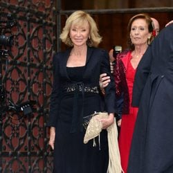María Teresa Fernández de la Vega durante la boda de Pablo Lara y Anna Brufau en Barcelona
