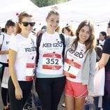 Marián Aguilera y Adriana Ugarte en una carrera solidaria en Madrid
