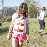 Adriana Ugarte en una carrera solidaria en Madrid
