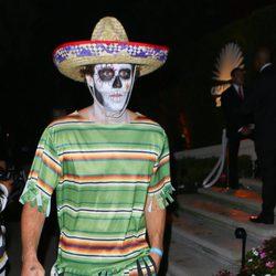 Brody Jenner disfrazado de muerte mexicana en una fiesta de Halloween en Beverly Hills
