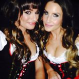 Lea Michele disfrazada de tirolesa para una fiesta de Halloween