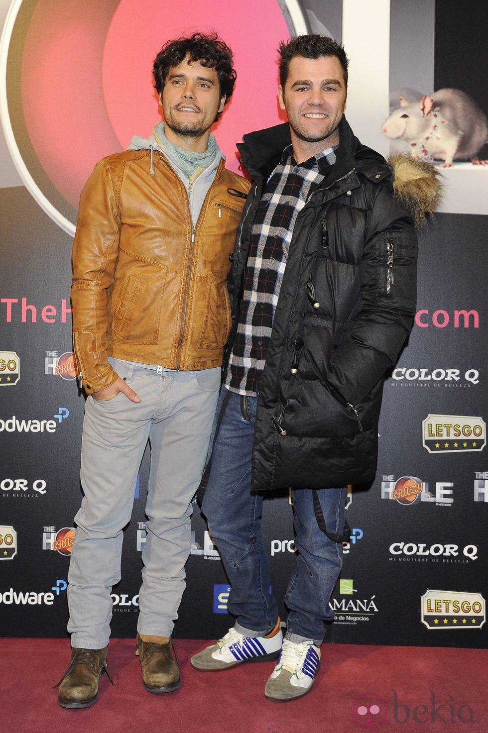 Miguel Abellán y Fonsi Nieto en el estreno de 'The Hole 2'