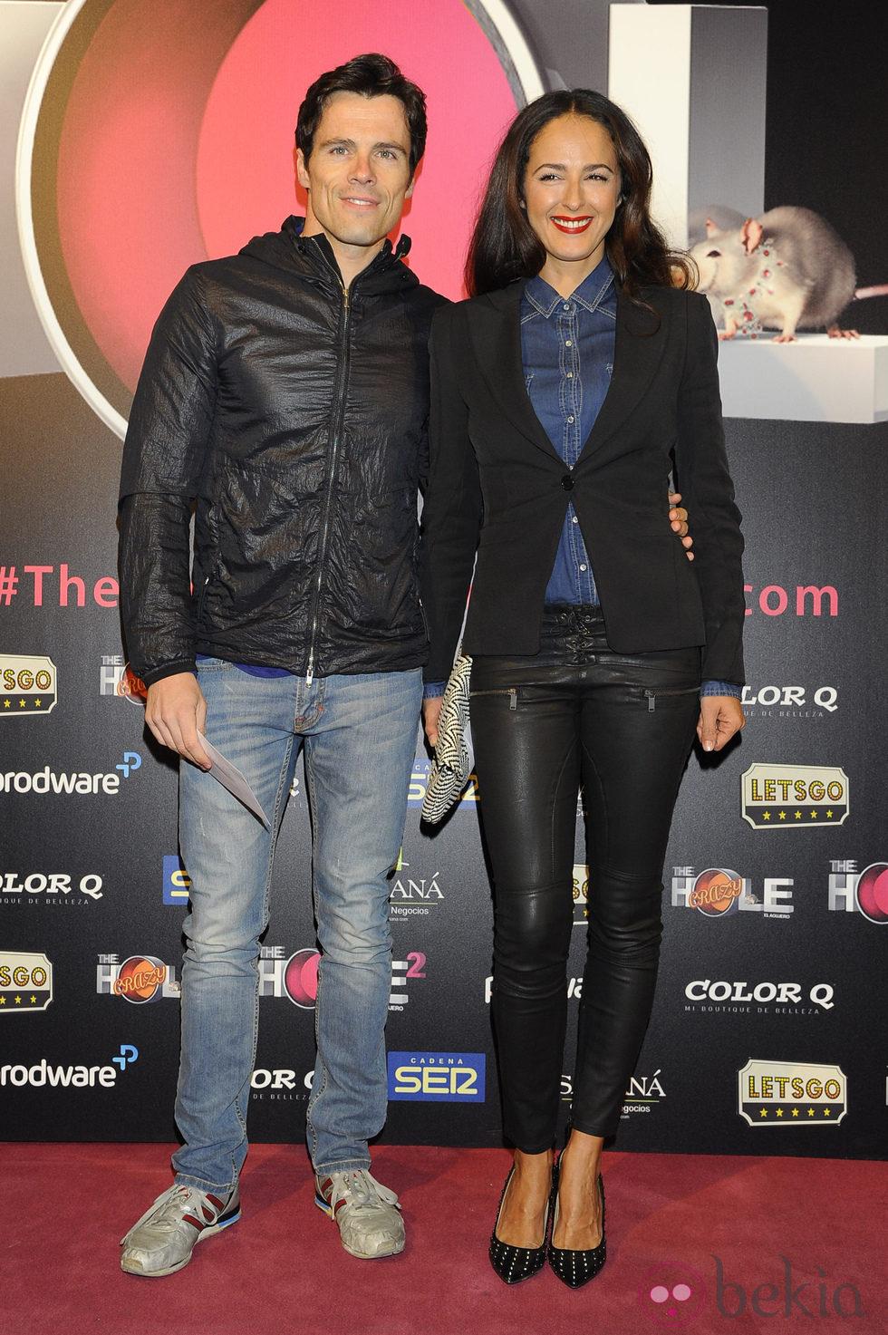 Octavi Pujades y Mónica Estarreado en el estreno de 'The Hole 2'
