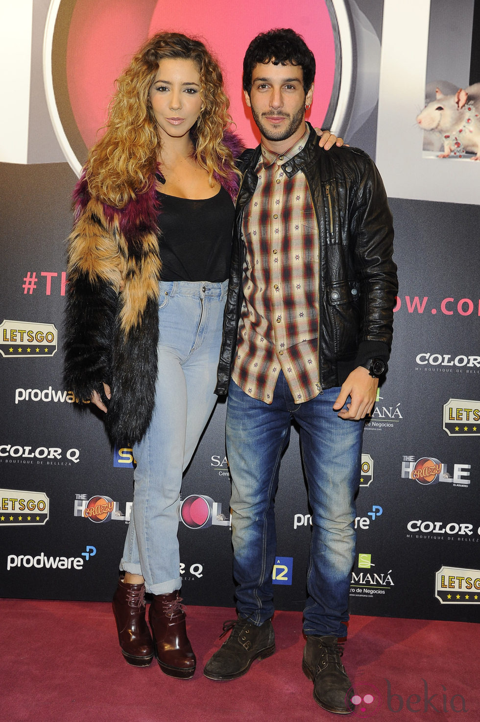 Sandra Cervera y Jonás Beramí en el estreno de 'The Hole 2'