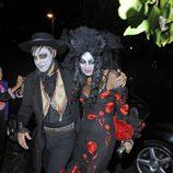 Kate Moss y Jamie Hince en Halloween 2013