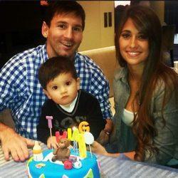 Thiago Messi celebra su primer cumpleaños en compañía de Leo Messi y Antonella Roccuzzo