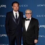 Leonardo DiCaprio y Martin Scorsese en la gala LACMA Art + Film