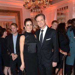 Colin Firth y Livia Firth en la fiesta Harper's Bazaar Mujer del Año 2013