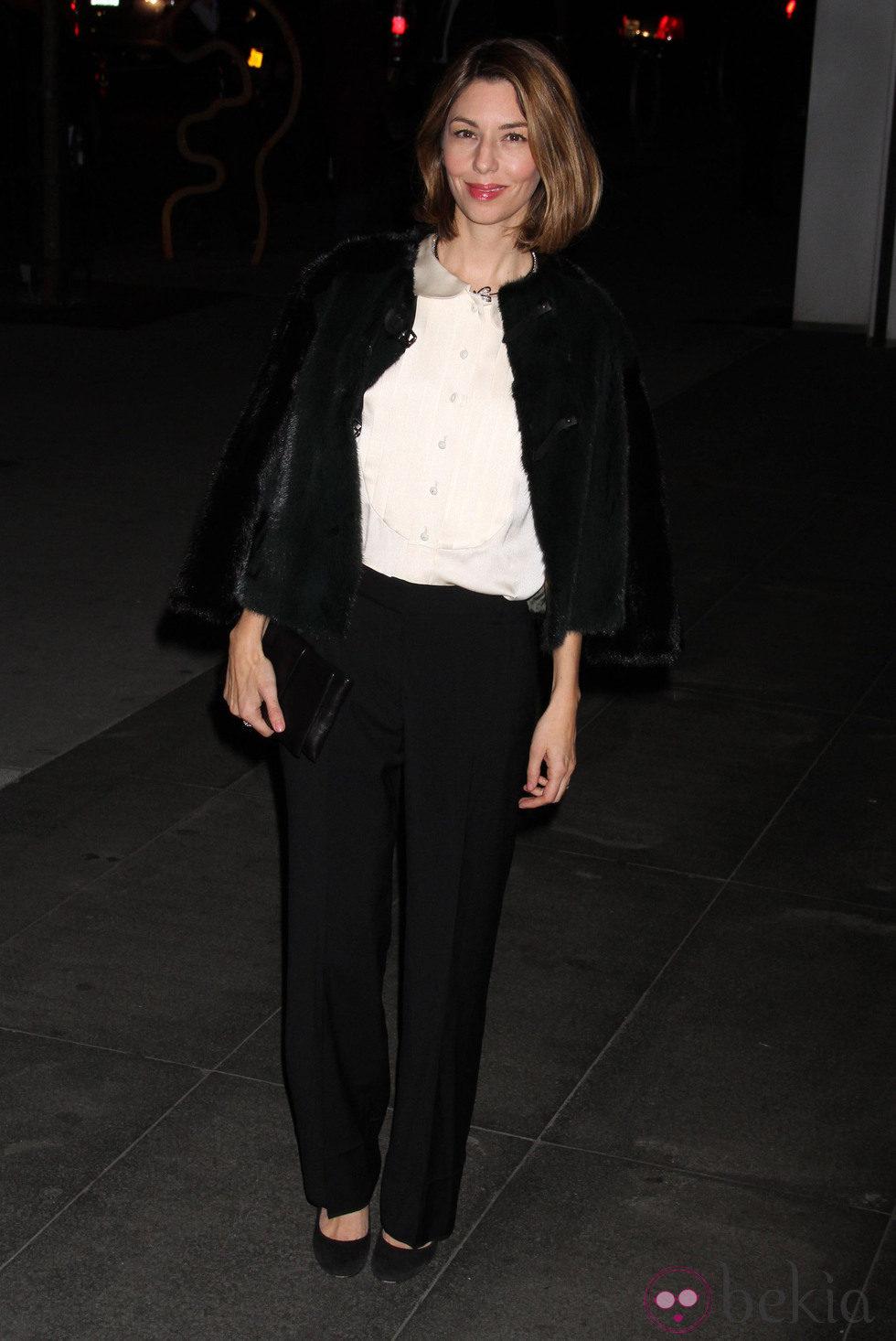 Sofia Coppola en una fiesta homenaje a Tilda Swinton en el MoMA
