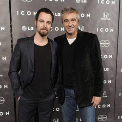 Carles Francino padre e hijo en la presentación del magazine Icon
