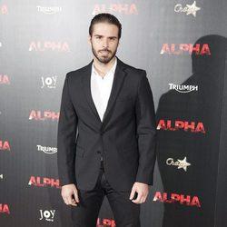 Álex Barahona en el estreno de 'Alpha'