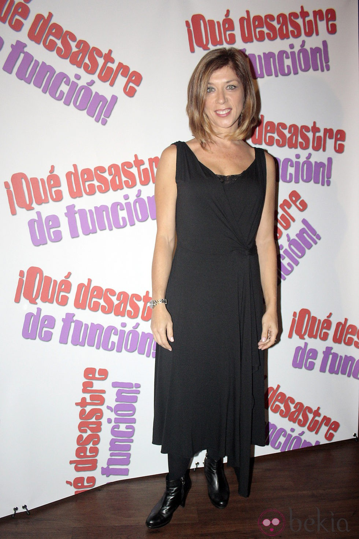 Eva Isanta en la presentación de la obra de teatro '¡Qué desastre de función!'
