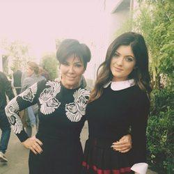Kris Jenner el día de su cumpleaños con Kylie Jenner