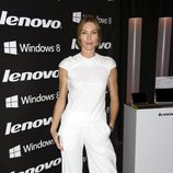 Cristina Piaget en la fiesta de presentación de la nueva campaña de una firma de equipos informáticos
