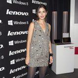 María Reyes en la fiesta de presentación de la nueva campaña de una firma de equipos informáticos