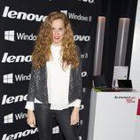 María Castro en la fiesta de presentación de la nueva campaña de una firma de equipos informáticos