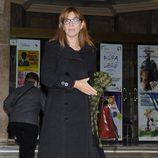 María Casal en la capilla ardiente de Amparo Rivelles
