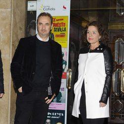 Pedro Larrañaga y Ana Botella en la capilla ardiente de Amparo Rivelles