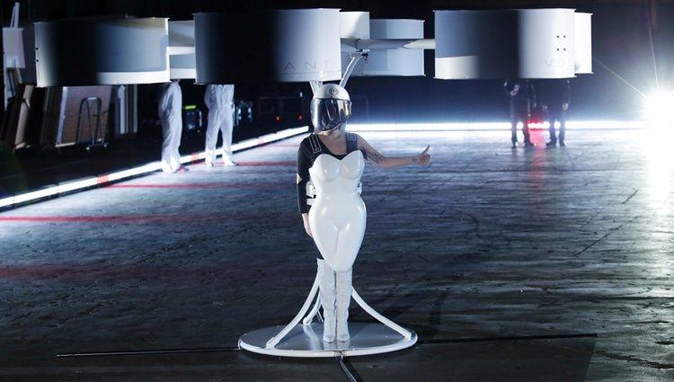 Lady Gaga en la fiesta de presentación de su nuevo disco 'ARTPOP'