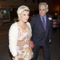 Terelu Campos y Jimmy Giménez Arnau en una fiesta de la Fábrica de la Tele