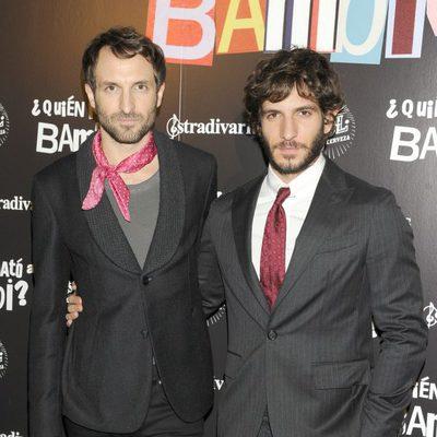 Julián Villagrán y Quim Gutiérrez en el estreno de '¿Quién mató a Bambi?' en Madrid