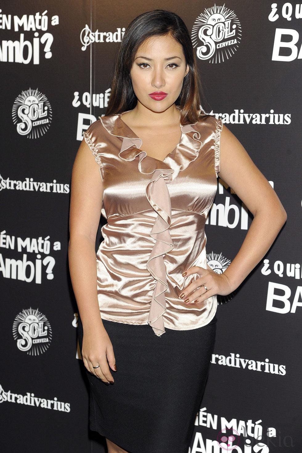 Giselle Calderón en el estreno de '¿Quién mató a Bambi?' en Madrid