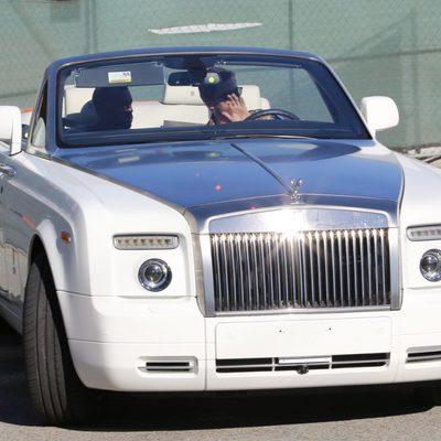 Kanye West con Scott Disick en su coche